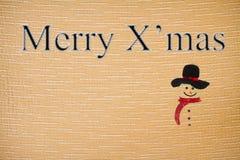 Suturez Noël de tissu de caractères Images libres de droits
