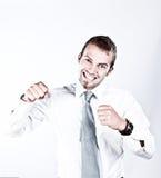 Suuccess en Enthousiasme in Zaken Royalty-vrije Stock Foto's