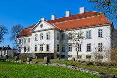 Suuremoisa Manor. Suuremoisa (German: Großenhof) is grandest baroque manor ensemble in Estonia. Was erected in 1755-60 by the Stenbock family. Hiiumaa, Estonia Royalty Free Stock Image