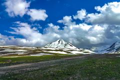 Suusamyr Too Mountain Range 07 royalty free stock photography