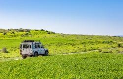 SUV,乡下公路,以色列 库存照片