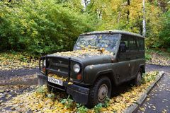 SUV завода автомобиля Ulyanovsk Стоковое Изображение