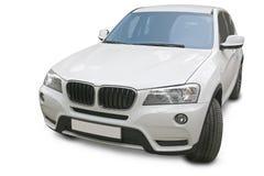 SUV на белой предпосылке Стоковое фото RF