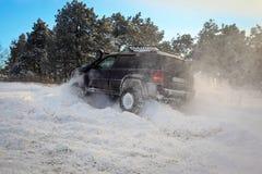 Suv на снеге Стоковые Изображения RF