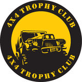 Suv 4x4 trophy club sign. Suv Off-road jeep. Black Vector illustration. Suv 4x4 trophy club sign Royalty Free Illustration
