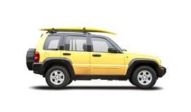 SUV amarillo Imágenes de archivo libres de regalías