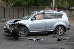 SUV auto accident Royalty Free Stock Photography