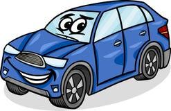 Suv-Autocharakter-Karikaturillustration Stockfotografie