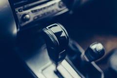 SUV automatic transmission close-up. stock photos