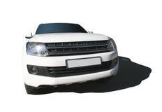 SUV bianco è isolato Fotografia Stock