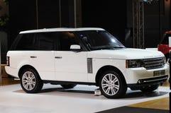 Suv blanc de Range Rover Photographie stock libre de droits
