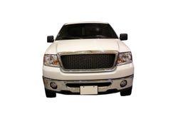 SUV blanco aislado sobre blanco imagenes de archivo