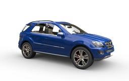 SUV bleu Photographie stock libre de droits