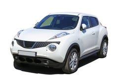 SUV branco isolou-se Imagem de Stock Royalty Free