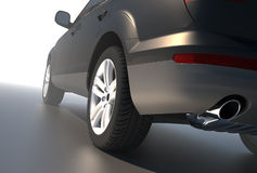 SUV car. Seen from the rear view Royalty Free Stock Photo