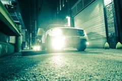 SUV Car in the Alley Royalty Free Stock Images
