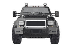 Suv car auto, front view stock illustration