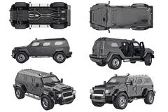 Suv car auto set Stock Photo