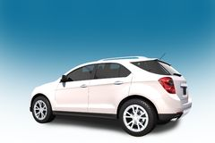 SUV Car 3D Illustration Royalty Free Stock Images