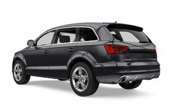 SUV Car Isolated Stock Images