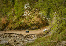 SUV car in the mountains Royalty Free Stock Photo