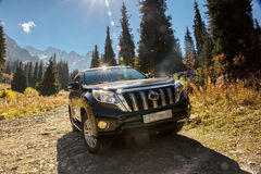 Suv car mountains Stock Photography