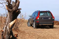 SUV car offroad royalty free stock photography
