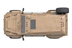 Suv car, top view Royalty Free Stock Photo