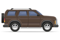Suv car vector illustration Royalty Free Stock Images