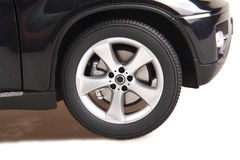 SUV car wheel. BMW suv car wheel on white Royalty Free Stock Photography