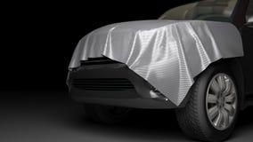 SUV com capa envolvida Imagens de Stock Royalty Free