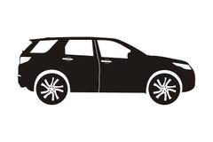 Suv del coche del icono stock de ilustración