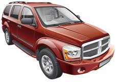 SUV del mismo tamaño americano Imagen de archivo libre de regalías