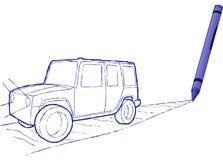 Suv dissipato pastello - illustrazione di vettore Fotografia Stock Libera da Diritti