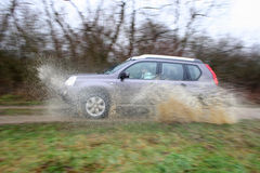 SUV driven off road royalty free stock images