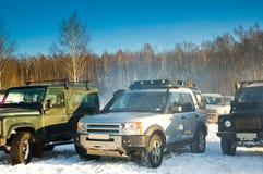 SUV em um inverno do russo Imagens de Stock Royalty Free
