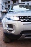 SUV en bouw Royalty-vrije Stock Fotografie