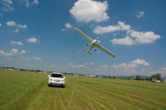 SUV et départ ultra-léger d'aéronefs Photo stock