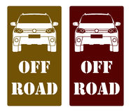 Suv front. SUV fornt off raod races Royalty Free Stock Image