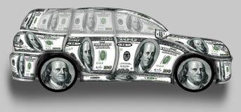 SUV gjorde från dollar Arkivbilder