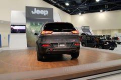 Suv icônico americano novo na feira automóvel Foto de Stock