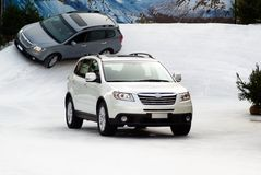 Suv im Schnee Stockfotografie