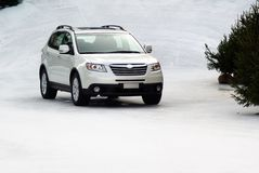 Free Suv In The Snow Royalty Free Stock Image - 3884586
