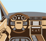 SUV Interior vector Royalty Free Stock Image