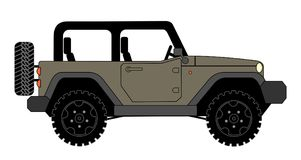 Suv jeep for safari and extreme travel. Pictogram vector eps 10 vector illustration