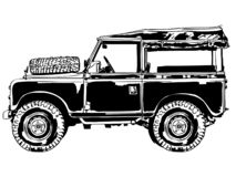 Suv-Jeep Vektor, ENV, Logo, Ikone, Schattenbild-Illustration durch crafteroks für unterschiedlichen Gebrauch Besichtigen Sie mein stock abbildung