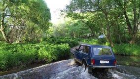 SUV Lada Niva stock videobeelden