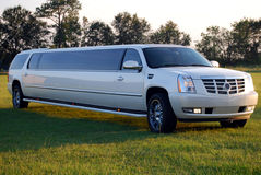 SUV Limo at Dusk Royalty Free Stock Images