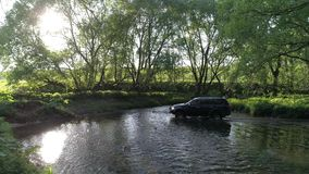 SUV Mitsubishi Pajero sport stock video