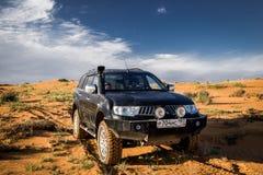 SUV Mitsubishi Pajero Sport. Kalmykia region, Russia. 04-22-2016 Royalty Free Stock Image